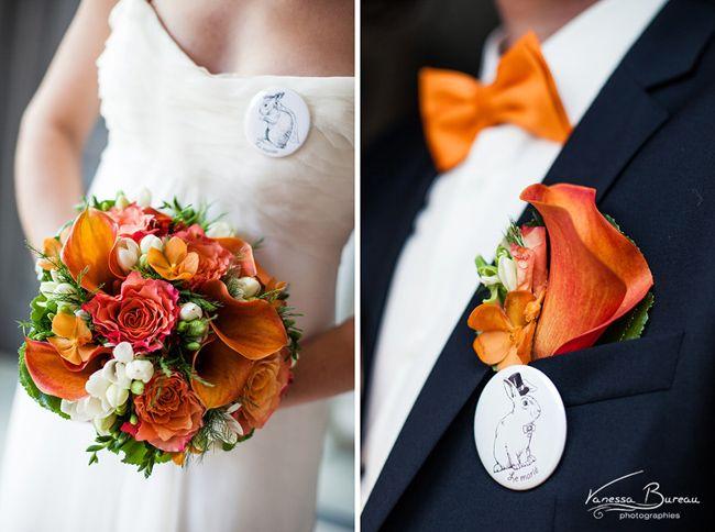 So Lovely moments, blog mariage, idées déco et inspirations mariage  - mariage orange Delphine + Laurent © Vanessa Bureau Photographe
