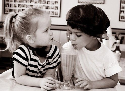 Love Is Endless... (little kids,cute,love,photography,couples,boy,girl,black and white)