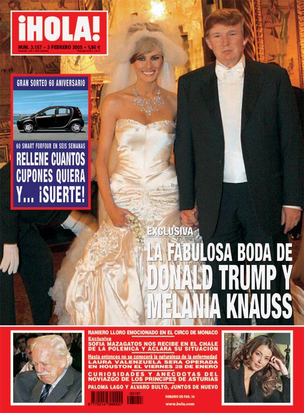 La boda de Donald Trump y Melania fue portada de la revista ¡HOLA!