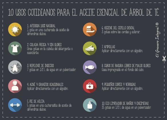 10 USOS COTIDIANOS DEL ACEITE ESENCIAL DEL ÁRBOL DEL TÉ (Pdf de alta calidad en la web)