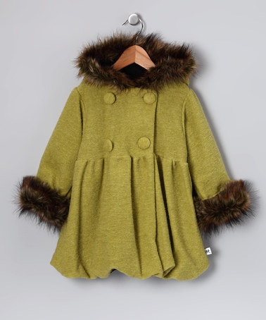 Take a look at this Kiwi Wooly Mary Jayne Coat - Infant, Toddler & Girls by Corky & Company on #zulily today!