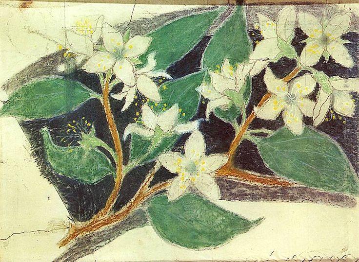 Stanisław Wyspiański, Prunus flower - polychromy in St. Francis of Assisi's Church, Kraków, 1895