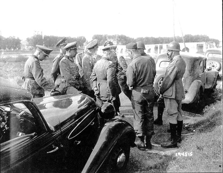 Terms and conditions of surrender are discussed by lt col - French div 2 ...