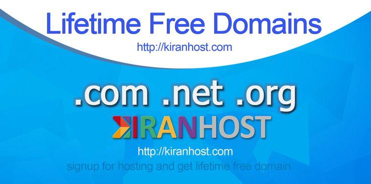 Free Domain for lifetime http://kiranhost.com