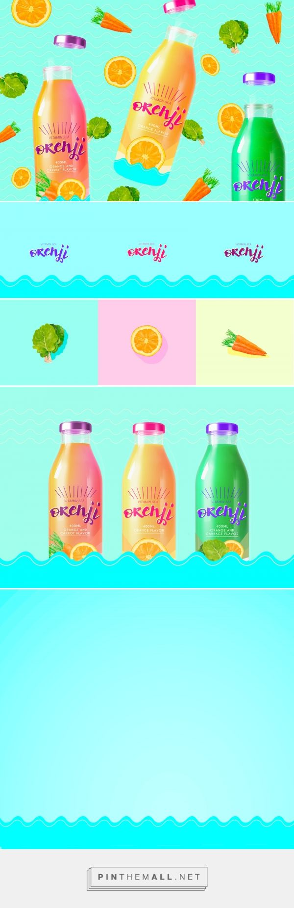 Orenji Vitamin Sea - Natural Juice - Packaging of the World - Creative Package Design Gallery - http://www.packagingoftheworld.com/2016/07/orenji-vitamin-sea-natural-juice.html