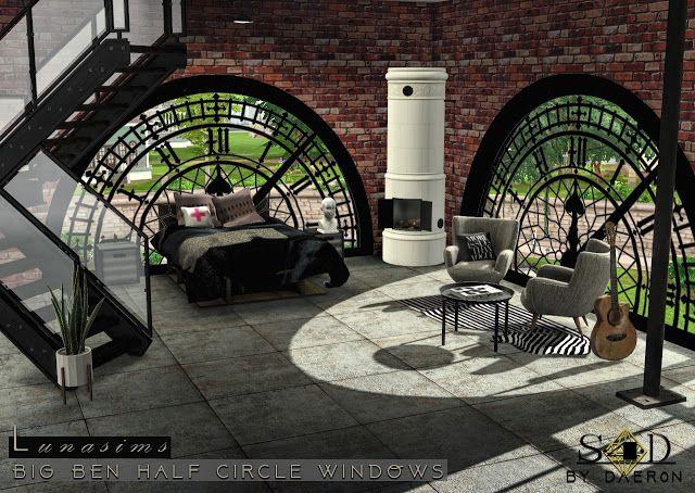 Sims 4 CC's – The Best: 3t4 Conversion of Lunasims Big Ben Windows by daer….. – Annett Herrler