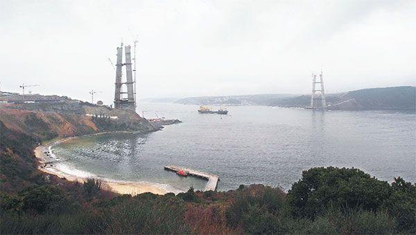 İstanbul 3. Köprü inşaatı