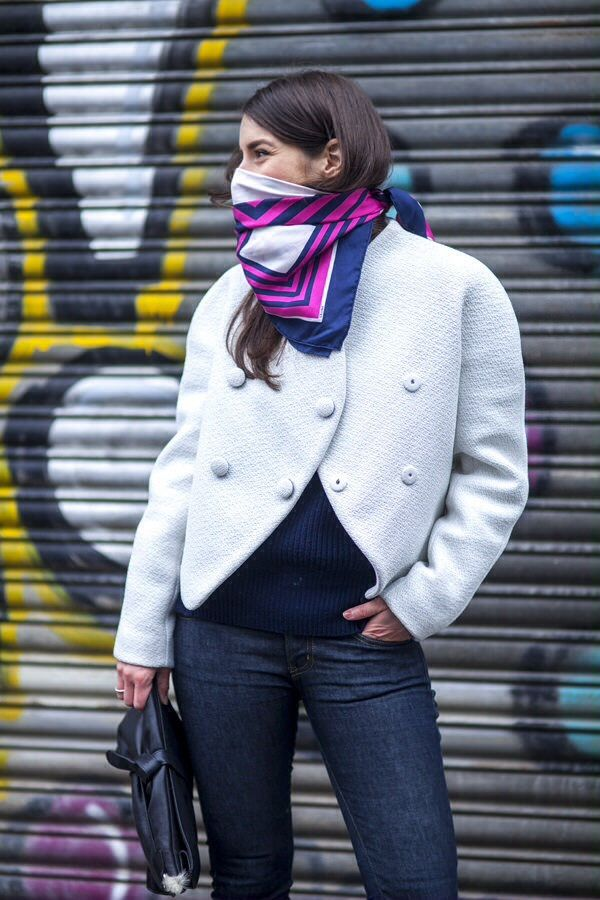 Square scarf as mask Scarf styles How to wear scarves