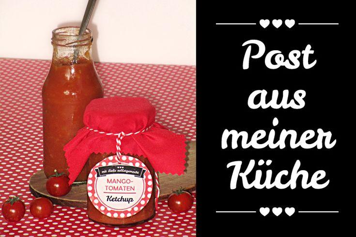 Steffis #SommerimGlas Tauschpartnerin Andrea hat ein Päckchen mit eingelegtem Feta und Mango-Tomaten-Ketchup im Glas bekommen - beides etwas pikant! Die Rezepte gibt's unter http://giftsoflove.de/mitbringsel-fuer-deine-grillparty-fuer-post-aus-meiner-kueche/