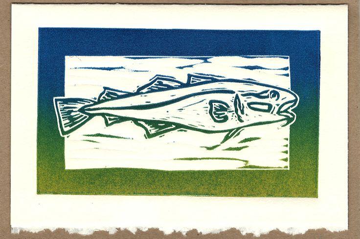 Norton's Cove Cards and Mini-Prints: Codfish