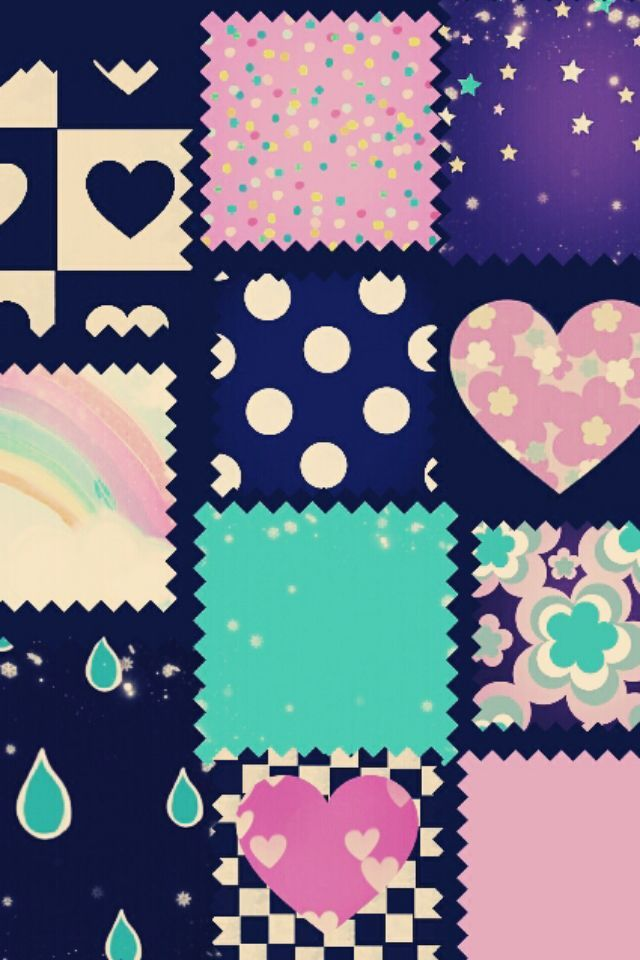 Love Pattern Cute Girly HD Wallpaper for iPhone 6. Girly