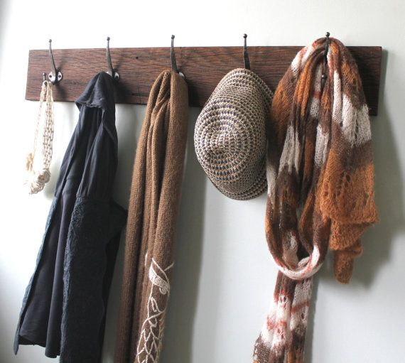 Reclaimed Barn Wood Coat Rack by bluebirdheaven on Etsy, $54.00