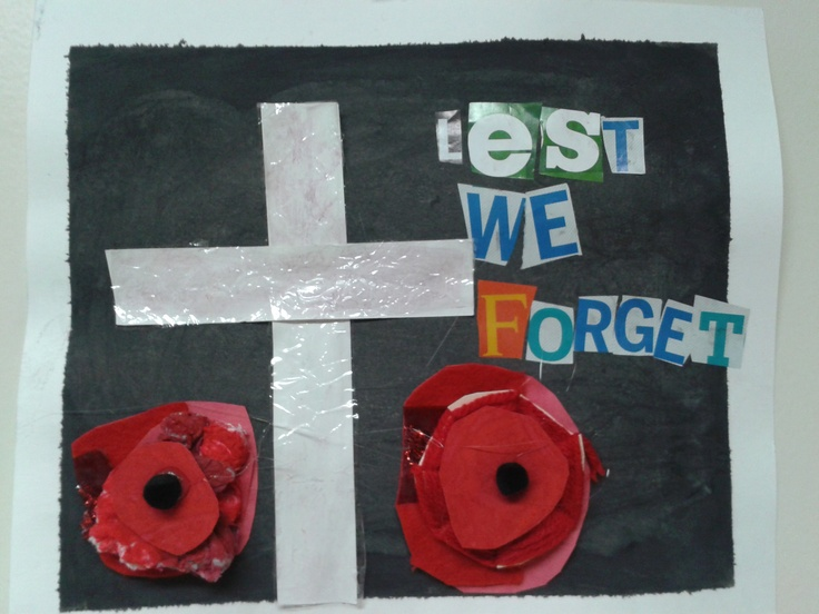 Mixed Media Rememberance Day- Grade 5