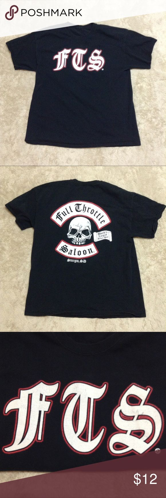 Full Throttle Saloon t shirt Full throttle saloon tshirt some cracking on the logo but still in good shape no size tag but looks to be an XL Full Throttle Shirts Tees - Short Sleeve
