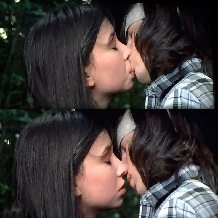 Carl Grimes first kiss. I HATE Enid! I mean the actress is good, but personally i hate her character