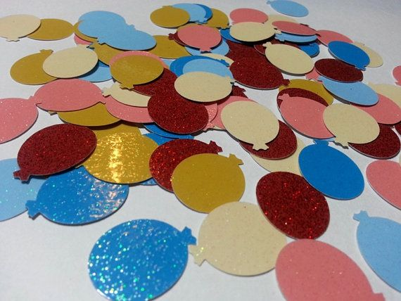 Balloon Cut Outs Die Cut Glitter Balloons by MamaJamaCrafts