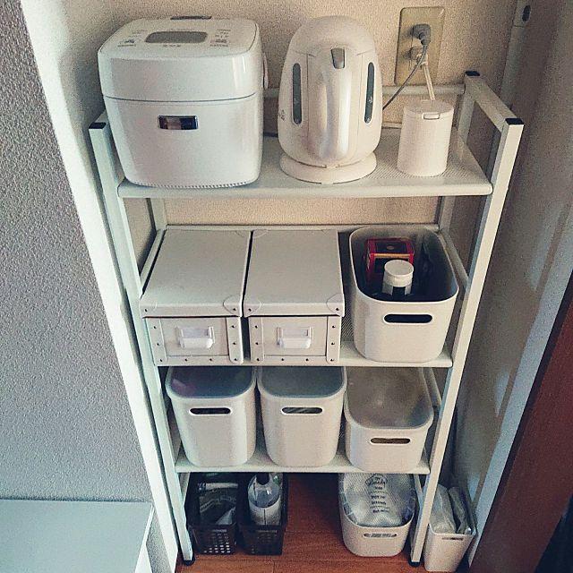 キッチン 1k 一人暮らし 賃貸 6畳 などのインテリア実例 2019 01 21 16 52 50 Roomclip ルームクリップ インテリア 炊飯器 置き場 インテリア 1k