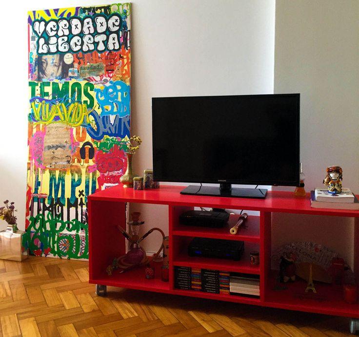 Akire Love, 2016 Mixed media on MDF | 47,2 x 29,1 in Técnica mista sobre placa de MDF | 120 x 74 cm #arte #art #artwork #contemporaryart #artecontemporanea #urbanart#streetart #arteurbana #graffiti #graffitiart #spraypaint #sprayart #claudioczart #posca #poscaart #commissions #mixedmedia