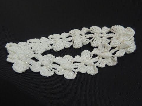 Tiara de Crochê com Borboletas - Como fazer! - Crochê Fácil