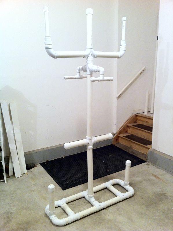 Homemade Equipment Drying Rack Goalie Store Bulletin