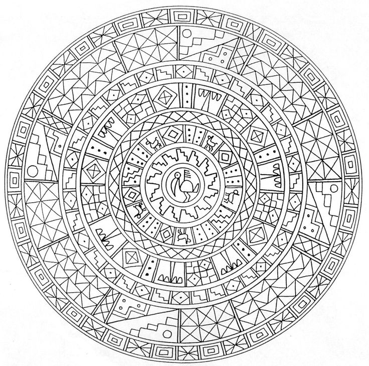 detailed coloring pages for adults pin coloring pages for kids adults aztec mandala page tattoo