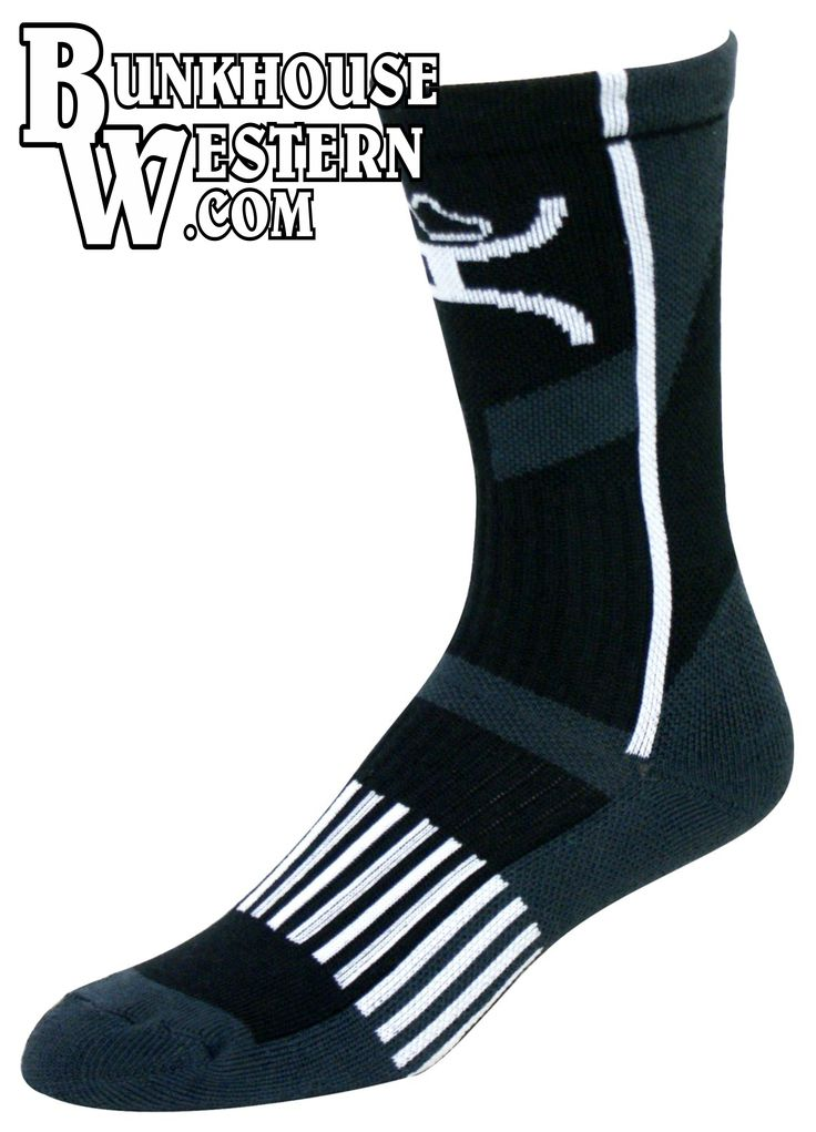 #GetYourHOOey, Black, White, & Gray Performance Socks, Hooey, Rodeo, Cowboy, $15, http://bunkhousewestern.com/hbws