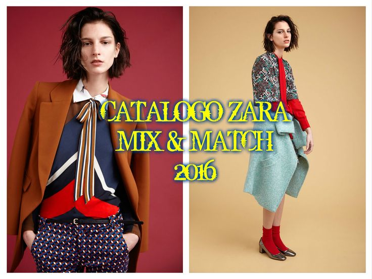 CATALOGO ZARA MIX & MATCH 2016