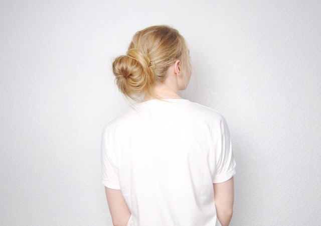 This Fashion Is Mine...: DIY Low Messy Hair Bun. wearing my hair like this to work tonight. great variation on my standard sock bun
