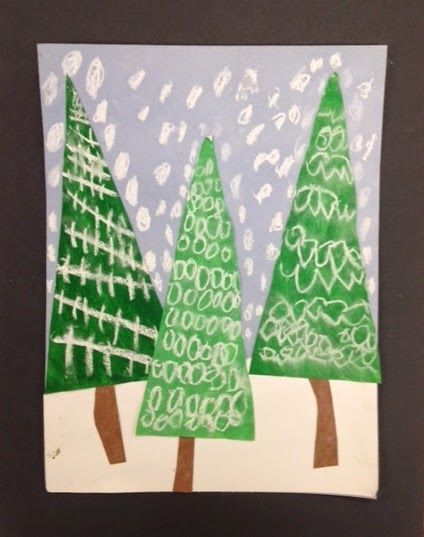 My Grade One class made these patterned evergreen trees today.  I am loving how they look clustered together on my bulletin board....