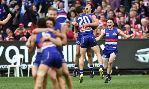 October 1 2016 - Western Bulldogs beat Sydney Sswans by 22 pts to win their first #AFL Premiership since 1954