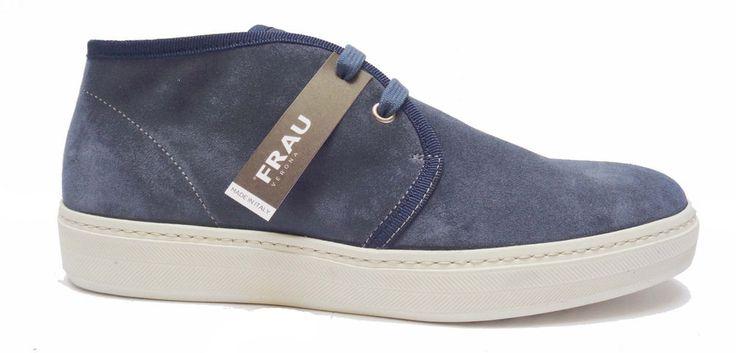 Scarpe uomo FRAU 28C5 scarpe casual da uomo in camoscio col. Jeans    eBay