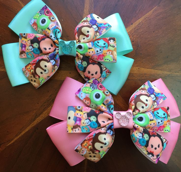 IT'S TSUM TSUMS!!!! Finally I am able to add my Tsum Tsum obsession to my bow…