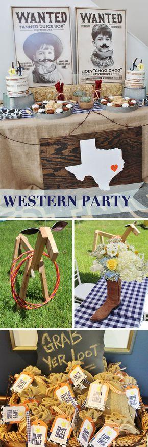 Rodeo Theme Birthday Party Ideas Western Houston