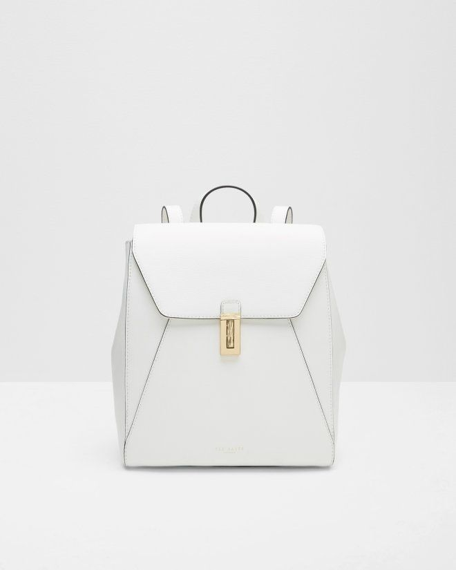 Leather backpack - Cream | Bags | Ted Baker