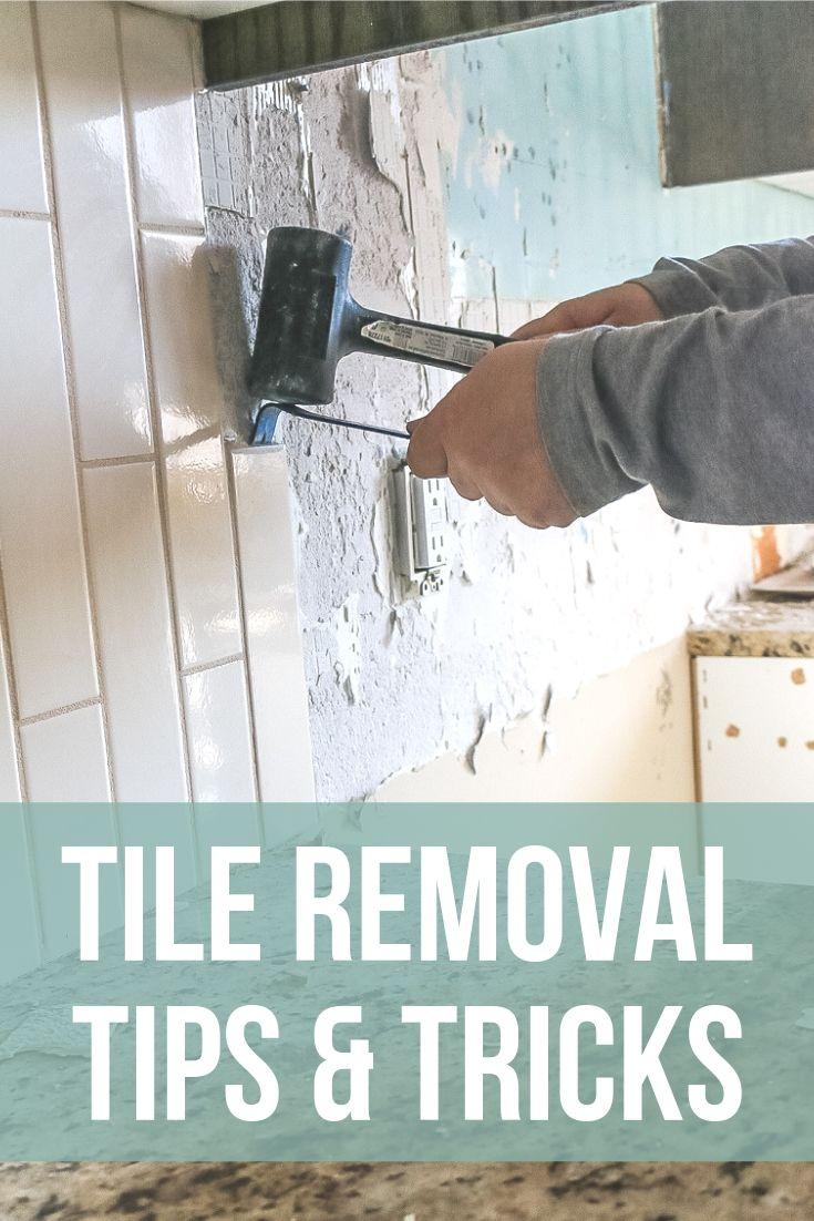 Tile Removal Kitchen Backsplash Part 1 Dining Table Makeover