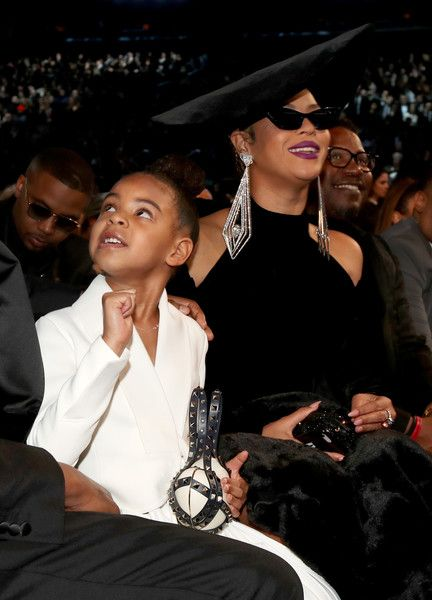 3597f6c760 Beyonce Knowles Photos - Blue Ivy Carter and recording artist Beyonce  attend the 60th Annual GRAMMY Awards at Madison Square Garden on January 28