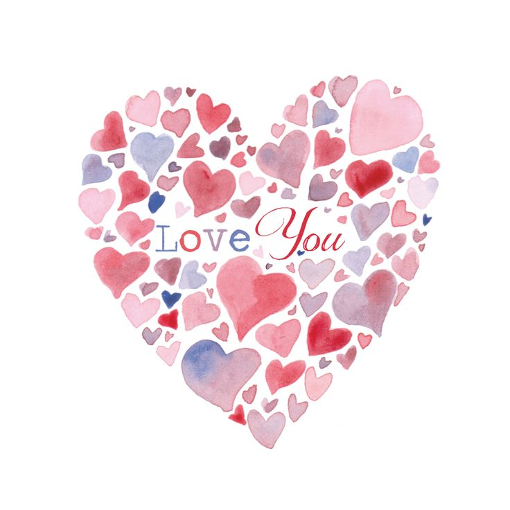 Love You hearts greeting card
