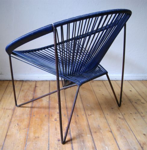 acapulco spaghetti stuhl sessel ddr vintage retro design. Black Bedroom Furniture Sets. Home Design Ideas