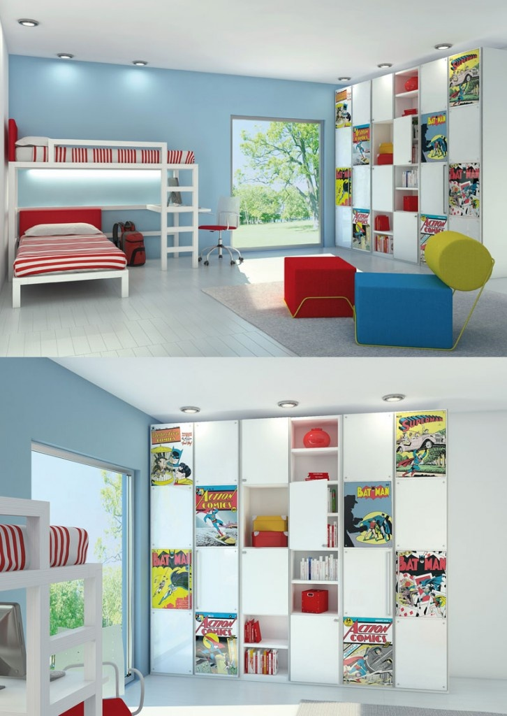 Comic Book Room :using http://www.great-kidsbedrooms.co.uk/marvel ...