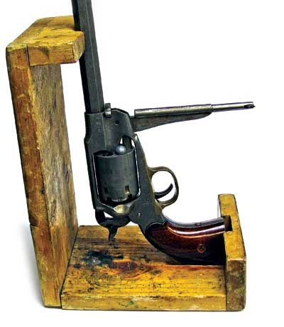 Shooting Cap-N-Ball Sixguns | American Handgunner | This simple wooden loading stand makes a black powder easier to load. Click here!! http://americanhandgunner.com/shooting-cap-n-ball-sixguns/