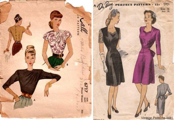 Περισσότερα από 80.000 σκίτσα vintage ρούχων είναι τώρα διαθέσιμα στο διαδίκτυο, για να ράψετε τα σωστά ρετρό συνολάκια