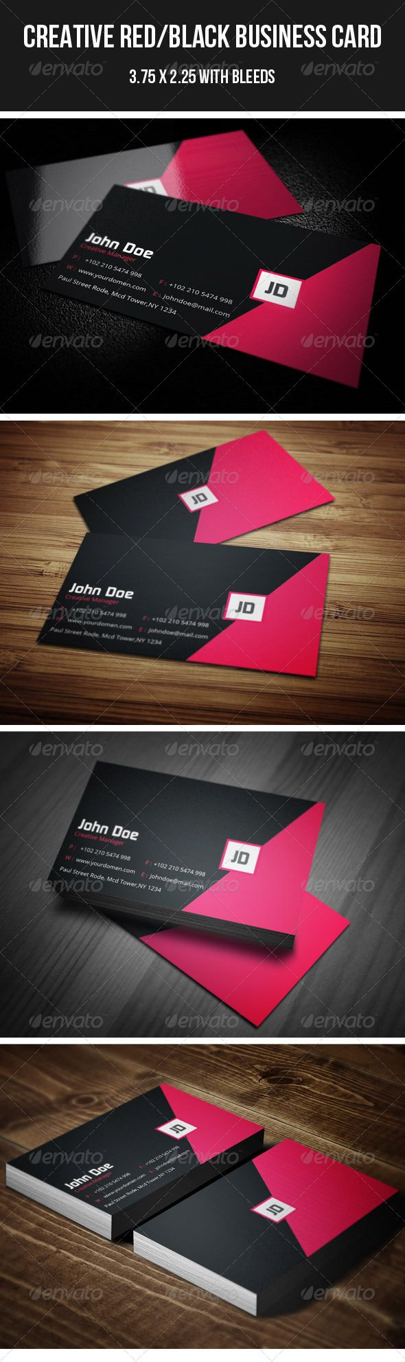 1469 best minimal business card design images on pinterest fonts creative redblack business card 37 magicingreecefo Gallery
