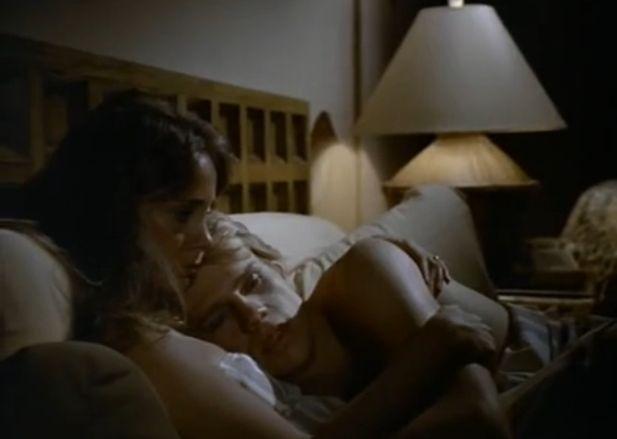 Claudia Blaisdel (Pamela Bellwood) and Steven Carrington