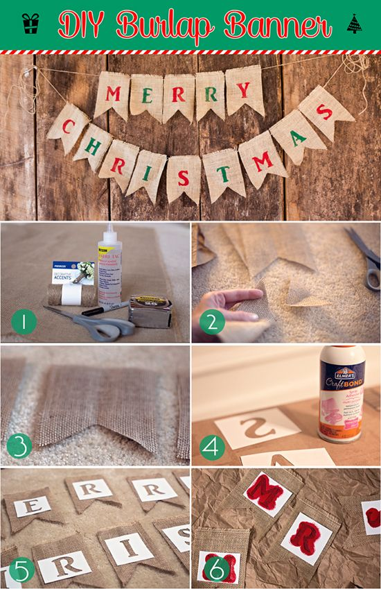 Supplies: Burlap Scissors Fabric Glue or Glue Gun Temporary Spray Glue AcrylicPaint No-Fray Spray Marker Measuring Tape Twine or Rope Stencils (make your own with the Silhouette Cameo) First, befo...