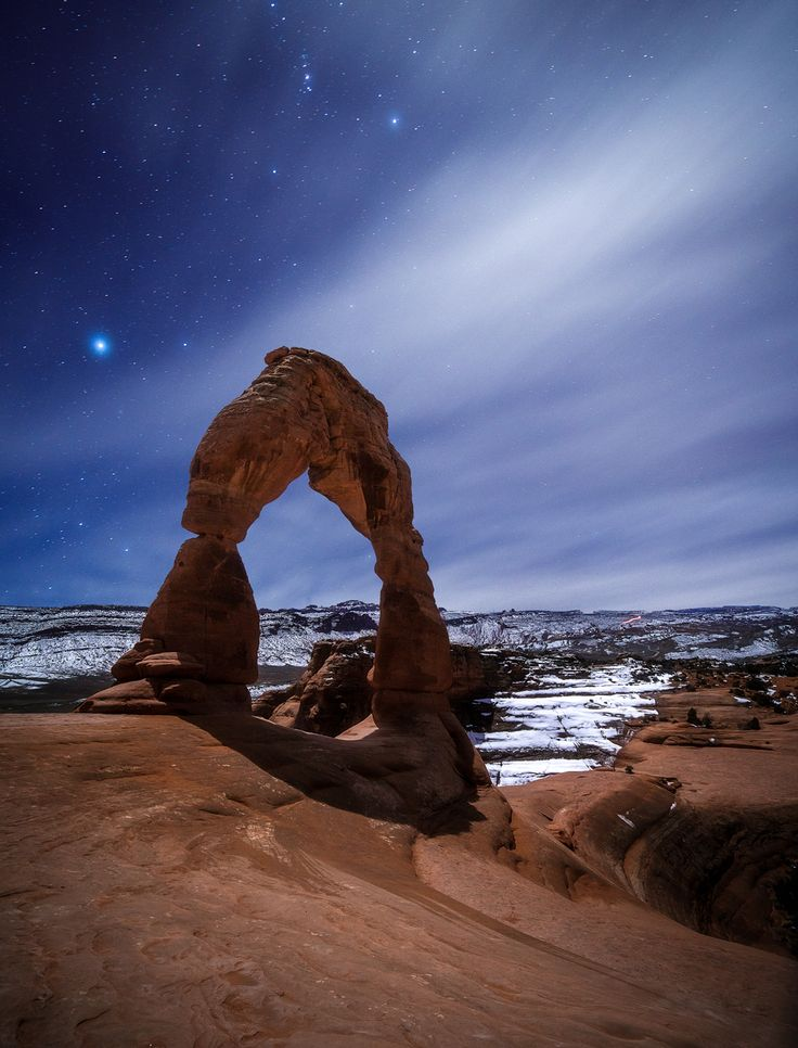 My First Time in Arches National Park Hiked in the Moonlight to the Delicate Arch and Took This Photo [OC] [10001313] #reddit
