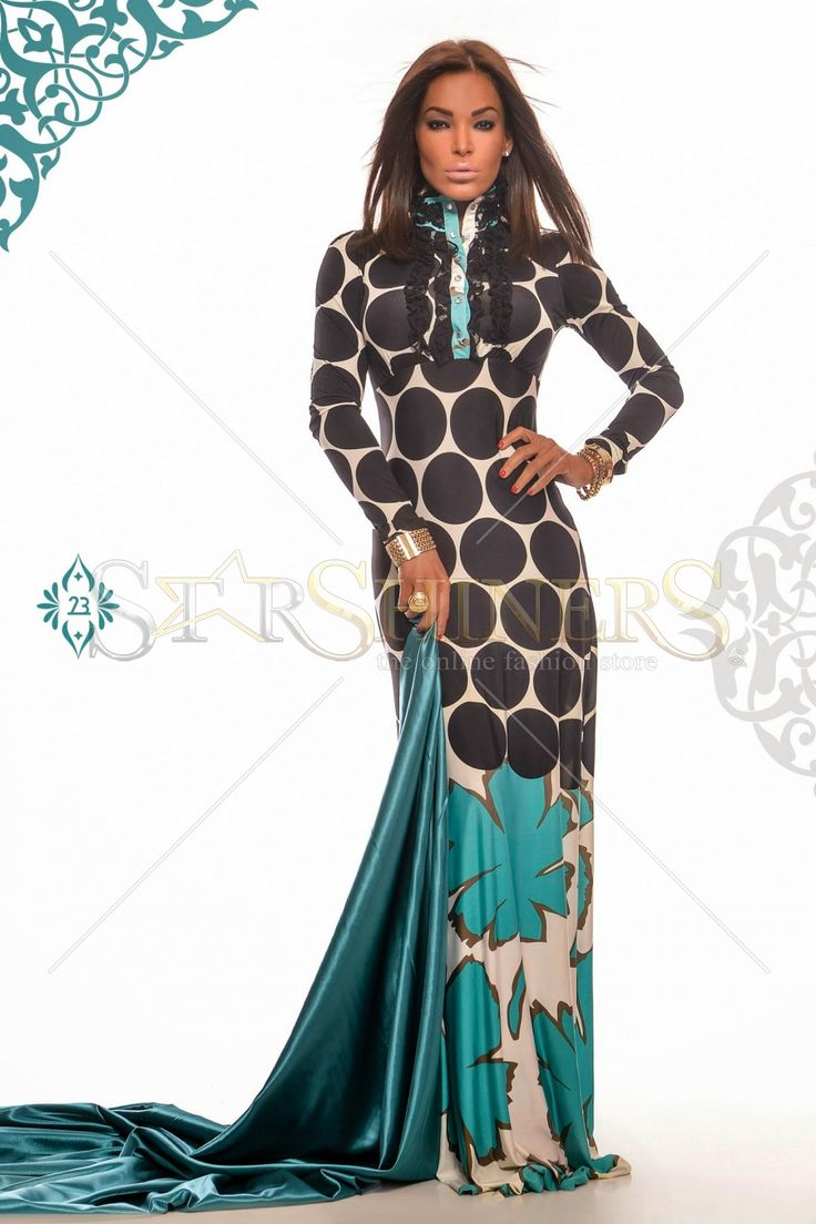 MissQ Bold Hearted Turquoise Dress