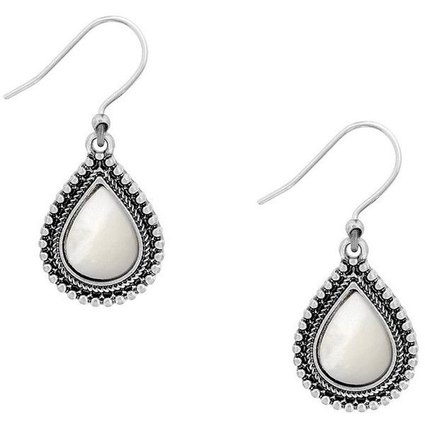 Lucky Brand Mother-of-Pearl Teardrop Statement Earrings ($29) ❤ liked on Polyvore featuring jewelry, earrings, teardrop earrings, tear drop jewelry, mother of pearl earrings, statement earrings and teardrop jewelry