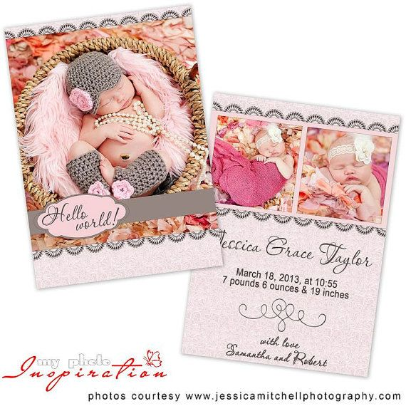 Best Hello World  Birth Announcements Images On