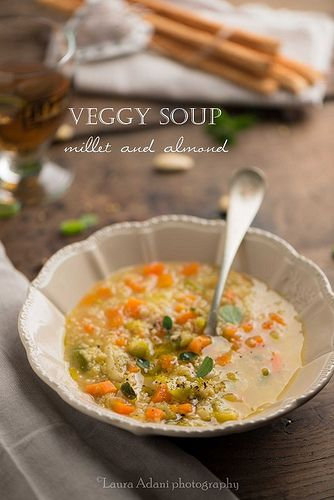 veggy soup millet and almond | Flickr - Photo Sharing!