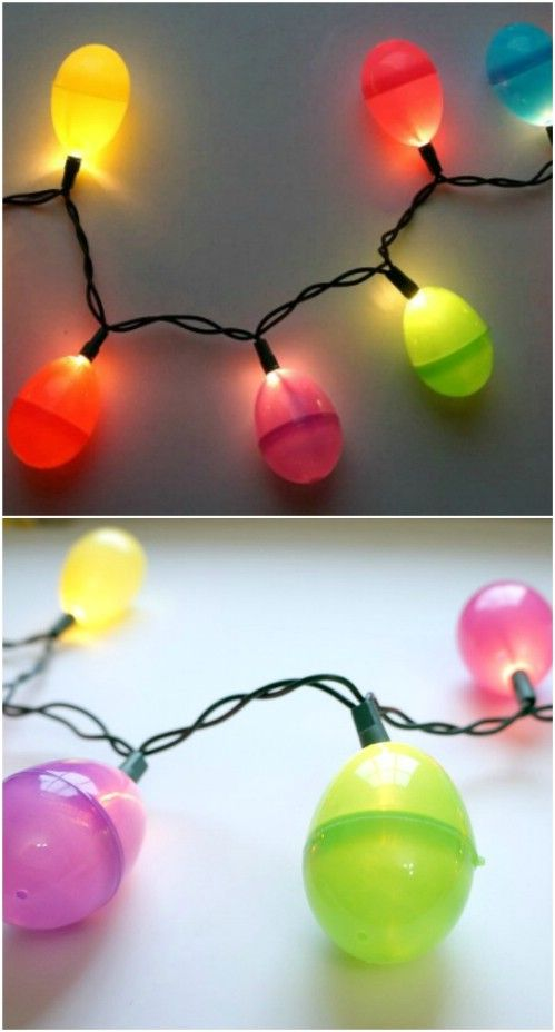 25 Creative Diy Outdoor Easter Decorations That Fill Your Yard With Joy Egg String Lights